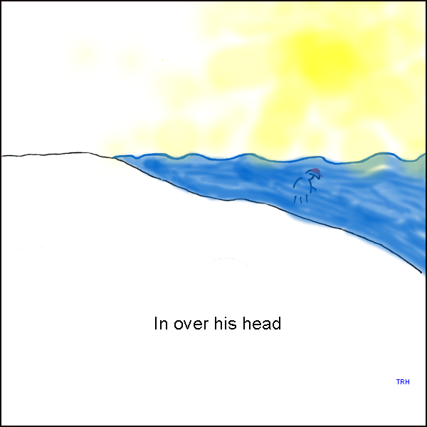 Over his Head